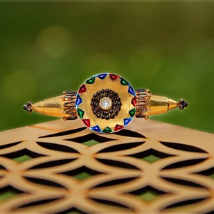 Born for 'Bold & Enamel'#KaleidoscopicHand# by Tanvi Garg, Art Jewellery, Contemporary, Traditional Ring