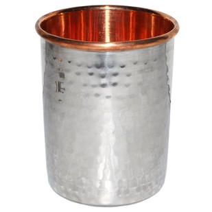 Copper and Silver Cooler Tumbler Glass Serveware By IMLI STREET