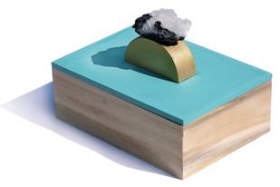 Ice Bue Ring Box Decorative Box By Tessera