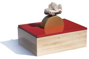 Red island-rock ring box Decorative Box By Tessera