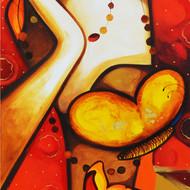 60x18 moods 1 acrylic on canvas