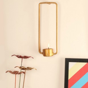 Gold Square Tea-light T-Light and Votive Holder By Designmint