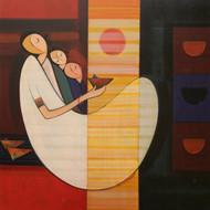 Datta thombarejh20 mother   child acrylic on   canvas 36''x36'' 72 000.