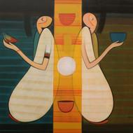 Jh21 inner love acrylic on canvas 36''x36'' 72 000.