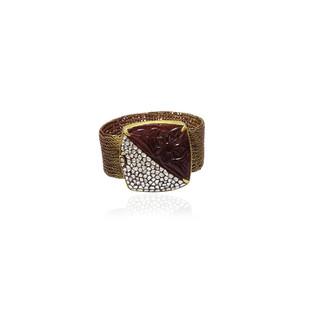 Carved Stone Bracelet by Symetree, Contemporary, Traditional Bracelet