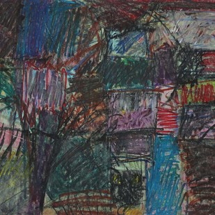 Untitled 30 by Rakesh Kumar, Abstract Drawing, Dry Pastel on Paper, Gray color