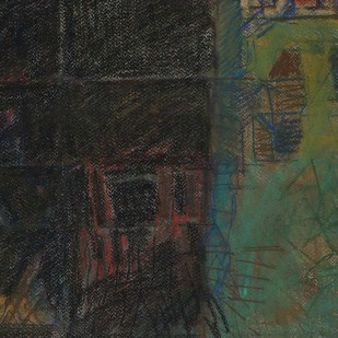 Untitled 33 by Rakesh Kumar, Abstract Drawing, Dry Pastel on Paper, Gray color