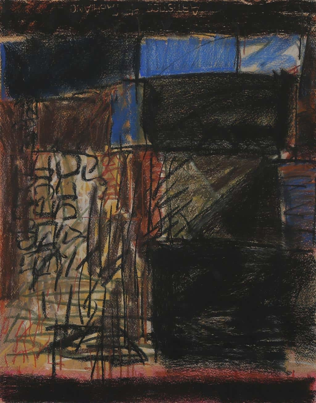 Untitled 41 by Rakesh Kumar, Abstract Drawing, Dry Pastel on Paper, Gray color