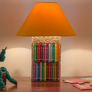 Crayon Lamp Table Lamp By Desi Jugaad