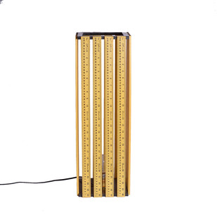 Vintage Ruler Floor Lamp Floor Lamp By Desi Jugaad