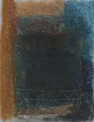 Untitled 9 by Rajnish Kaur, Abstract Painting, Oil Pastel on Paper, Gray color