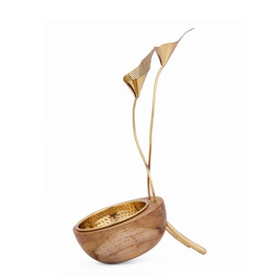 Calla Lily Bowl T-Light and Votive Holder By Studio Saswata