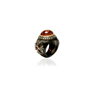 Antique Modern Ring by Symetree, Traditional Ring