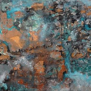 Interstellar by Bahaar Dhawan Rohatgi, Abstract Painting, Mixed Media on Canvas, Green color
