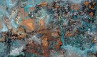 Interstellar by Bahaar Dhawan Rohatgi, Abstract Painting, Mixed Media on Canvas, Green color