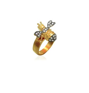Fleur De Bee Ring by Symetree, Contemporary Ring