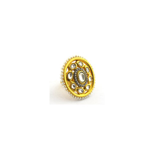 Contemporary CZ & Pearl Ring by Symetree, Contemporary, Traditional Ring