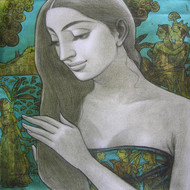 Untitled by Sukanta Das, Decorative Painting, Acrylic on Canvas, Gray color