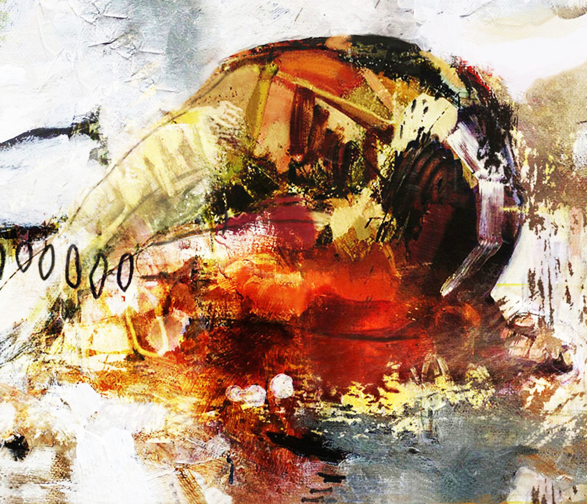 Born Inside A Rain Drop by Gopal Mehan, Abstract Painting, Oil on Canvas, Brown color