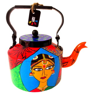 Limited Edition kettle- Bharatanatyam Dancer Serveware By Pyjama Party Studio
