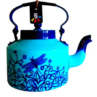 Limited Edition kettle- Blue dragonfly Serveware By Pyjama Party Studio