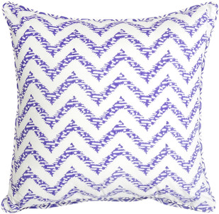 IKKA DUKKA HAND BLOCKED PURPLE CUSHION COVER Cushion Cover By Ikka Dukka Studio Pvt Ltd