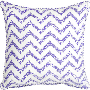 IKKA DUKKA HAND BLOCKED PURPLE CUSHION COVER by Ikka Dukka Studio Pvt Ltd, Contemporary Cushion Cover