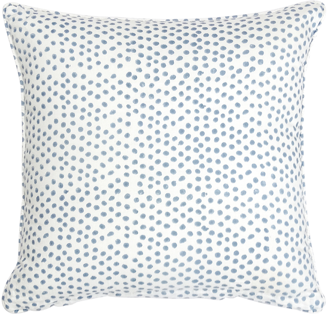IKKA DUKKA HAND BLOCKED BLUE SPOT CUSHION COVER Cushion Cover By Ikka Dukka Studio Pvt Ltd