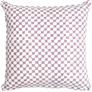 IKKA DUKKA HAND BLOCKED PLUM CUSHION COVER by Ikka Dukka Studio Pvt Ltd, Contemporary Cushion Cover