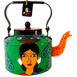 Limited Edition kettle- Kholi fisher woman Serveware By Pyjama Party Studio