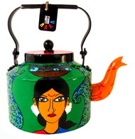 Limited Edition kettle- Kholi fisher woman Serveware By Pyjama Party Studio