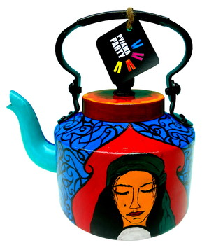 Limited Edition kettle- Mystic Gypsy Queen Serveware By Pyjama Party Studio