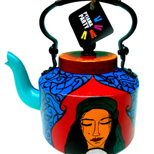 Limited Edition kettle- Mystic Gypsy Queen Serveware By Pyjama Party Studio