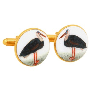 SIGNATURE PELICAN CUFFLINKS Button/Cufflink By Ikka Dukka Studio Pvt Ltd