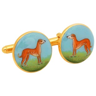SIGNATURE HOUNDOG CUFFLINKS by Ikka Dukka Studio Pvt Ltd, Contemporary Button/Cufflink