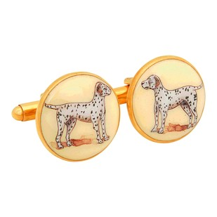SIGNATURE DALMATIAN CUFFLINKS by Ikka Dukka Studio Pvt Ltd, Contemporary Button/Cufflink