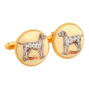 SIGNATURE DALMATIAN CUFFLINKS Button/Cufflink By Ikka Dukka Studio Pvt Ltd