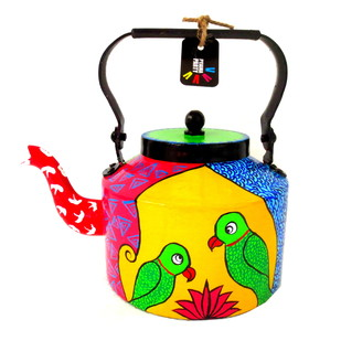 Limited Edition kettle- Parrot Pair Serveware By Pyjama Party Studio