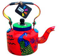 Limited Edition kettle- Peek-a-boo peacock Serveware By Pyjama Party Studio