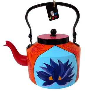 Limited Edition kettle- Purple Lotus Serveware By Pyjama Party Studio