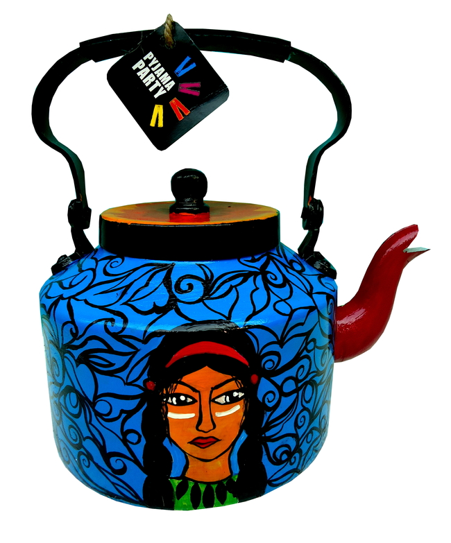 Limited Edition kettle- Red Indian squaw Serveware By Pyjama Party Studio