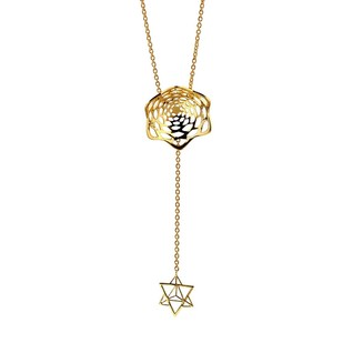 Lotus Fractal Mini Lariat by Eina Ahluwalia, Contemporary Pendant