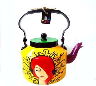 Limited Edition kettle- Urban Tribes Serveware By Pyjama Party Studio