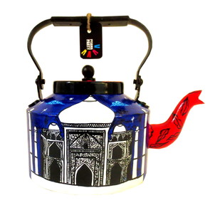 Premium hand-painted kettle- Waah Taj Serveware By Pyjama Party Studio