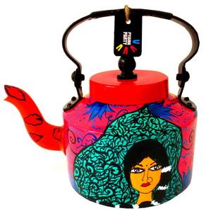 Limited Edition kettle- Wide eyed wonder Serveware By Pyjama Party Studio