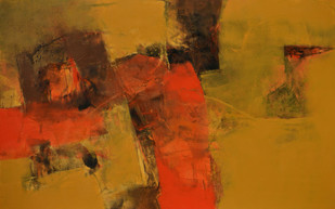 Untitled by Umesh Patil, Abstract Painting, Acrylic on Canvas, Brown color