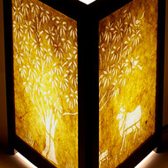 J sanjhi lamp tol yellow b