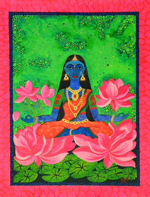 Mahalakshmi Digital Print by Pragati Sharma Mohanty,Traditional