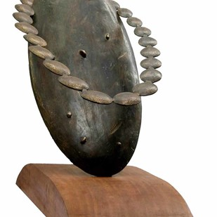 Relation by Sukanta Chowdhury, Art Deco Sculpture | 3D, Bronze, White color