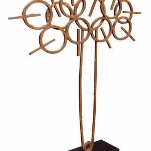 Ravana by Sukanta Chowdhury, Minimalism Sculpture | 3D, Bronze, White color